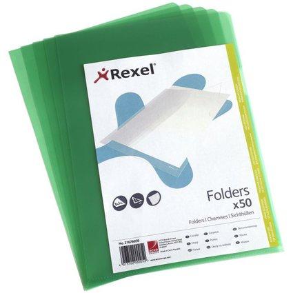 REXEL Sichthülle Standard, A4, PP, genarbt, grün, 0,11 mm