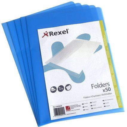 REXEL Sichthülle Standard, A4, PP, genarbt, blau, 0,11 mm