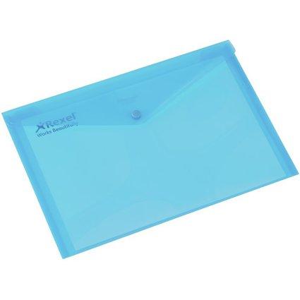 Rexel Dokumententasche Folder, DIN A4, türkis-transluzent