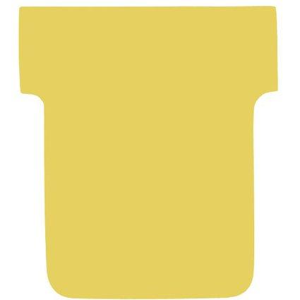 nobo T-Karten, Größe 1 / 28 mm, 170 g/qm, gelb