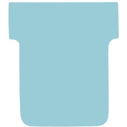 nobo T-Karten, Größe 1 / 28 mm, 170 g/qm, blau
