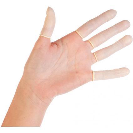 franz mensch Latex-Fingerlinge HYGOSTAR, L, weiß