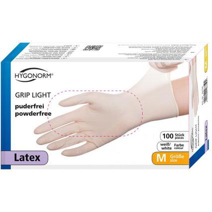 """franz mensch Latex-Handschuh """"GRIP LIGHT"""" HYGONORM, S, weiß"""