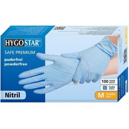 "franz mensch Nitril-Handschuh ""SAFE"" HYGOSTAR, XL, blau"