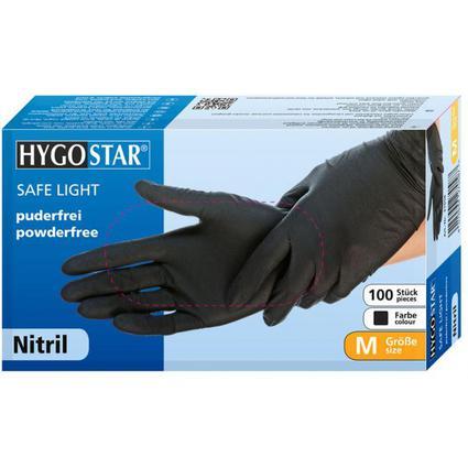 """franz mensch Nitril-Handschuh """"DARK"""" HYGOSTAR, L, schwarz"""