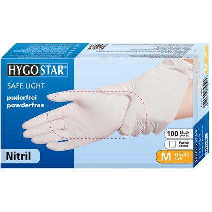 "franz mensch Nitril-Handschuh ""SAFE LIGHT"" HYGONORM, M, weiß"