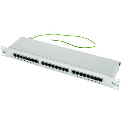 "Telegärtner 19"" Patch Panel, Kat. 5e, 24 x RJ45, ungeschirmt"
