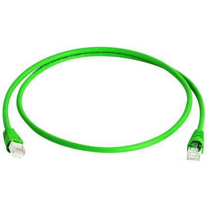 Telegärtner Patchkabel, Kat.6A (tief), S/FTP, 50,0 m, grün