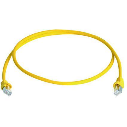Telegärtner Patchkabel, Kat.6A (tief), S/FTP, 3,0 m, gelb