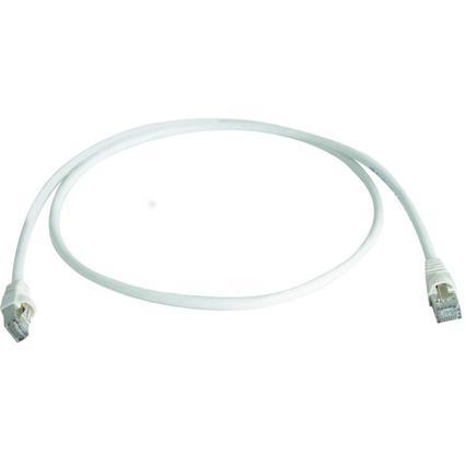 Telegärtner Patchkabel, Kat.6A (tief), S/FTP, 5,0 m, weiß