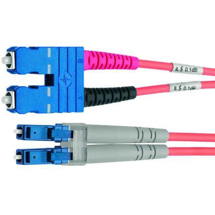 Telegärtner LWL Patchkabel, LC-Duplex - SC-Duplex, OM3, 2 m