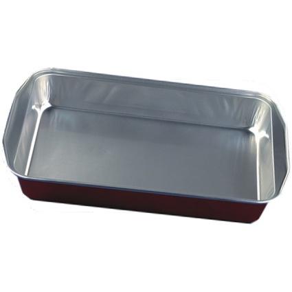 PAPSTAR Aluminium-Bratschale, eckig, kupfer/silber