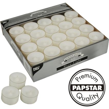 """PAPSTAR Teelichter """"Deco Lights"""", Durchmesser: 39 mm, weiß"""