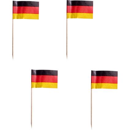 "PAPSTAR Partypicker ""Germany"", schwarz/rot/gelb, aus Holz"
