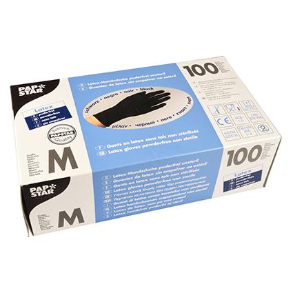 PAPSTAR Latex-Handschuh, Größe M, schwarz