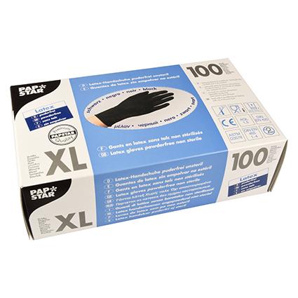 PAPSTAR Latex-Handschuh, Größe XL, schwarz
