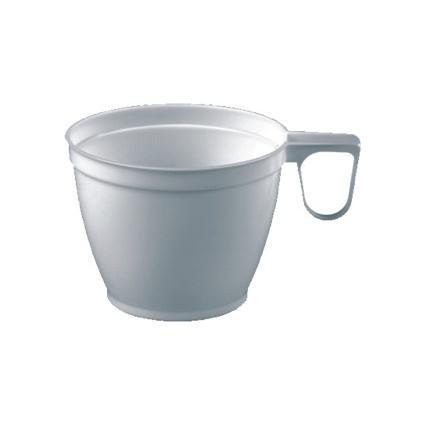 PAPSTAR Kunststoff-Kaffeetassen, mit Griff, weiß, 0,18 l