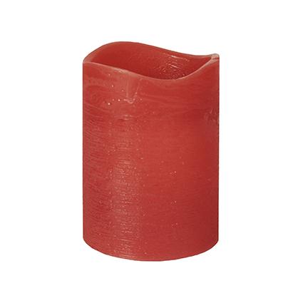 PAPSTAR LED-Stumpenkerze, Höhe: 100 mm, rot