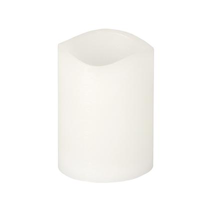 PAPSTAR LED-Stumpenkerze, Höhe: 100 mm, weiß