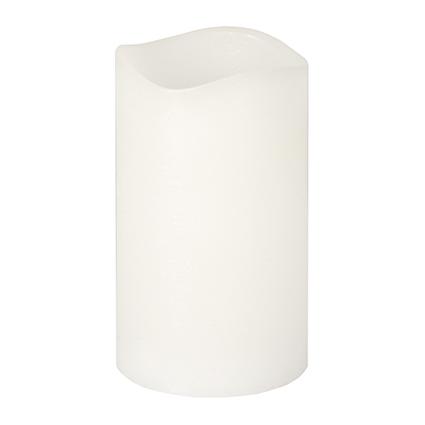 PAPSTAR LED-Stumpenkerze, Höhe: 125 mm, weiß