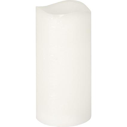 PAPSTAR LED-Stumpenkerze, Höhe: 150 mm, weiß