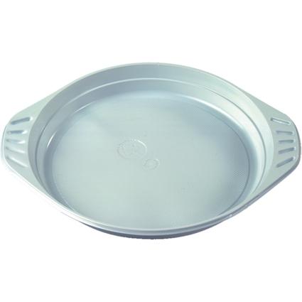 PAPSTAR Kunststoff-Menüteller, Durchmesser: 219 mm, weiß