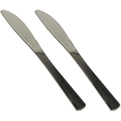 PAPSTAR Kunststoff-Messer, Länge: 200 mm, metallisiert