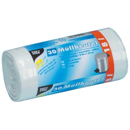 PAPSTAR Mülleimerbeutel LDPE, 18 Liter, weiß