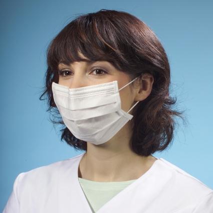 PAPSTAR Mundschutz mit Nasenbügel, 3-lagig, weiß