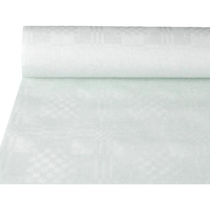 PAPSTAR Damast-Tischtuch, Rolle, 10 x 1 m, weiß