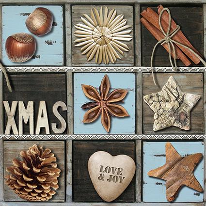 """PAPSTAR Weihnachts-Motivservietten """"Love & Joy"""""""