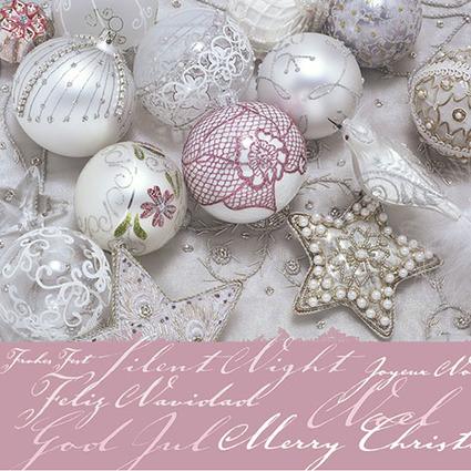 """PAPSTAR Weihnachts-Motivservietten """"Shiny Baubles"""""""