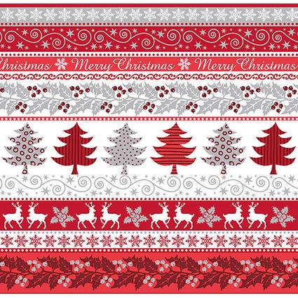 """PAPSTAR Weihnachts-Motivservietten """"Silver Glance"""""""