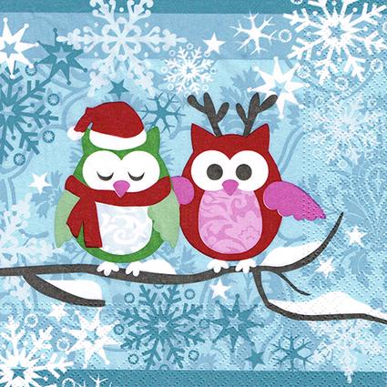 """PAPSTAR Weihnachts-Motivservietten """"Snowy Owls"""""""