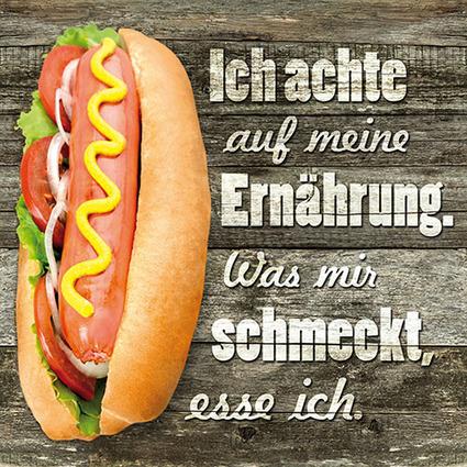 """PAPSTAR Sprüche-Servietten """"Burgerregel"""""""