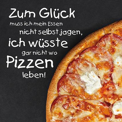 """PAPSTAR Sprüche-Servietten """"Pizzatime"""""""