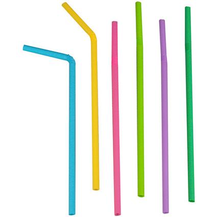 PAPSTAR Shake-Trinkhalme, flexibel, farbig sortiert