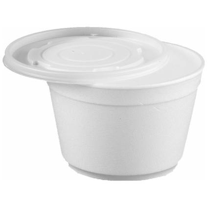 PAPSTAR Suppenbecher rund, mit Deckel, 400 ml