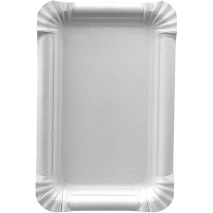 """PAPSTAR Papp-Teller """"pure"""" eckig, Maße: 130 x 200 mm, weiß"""