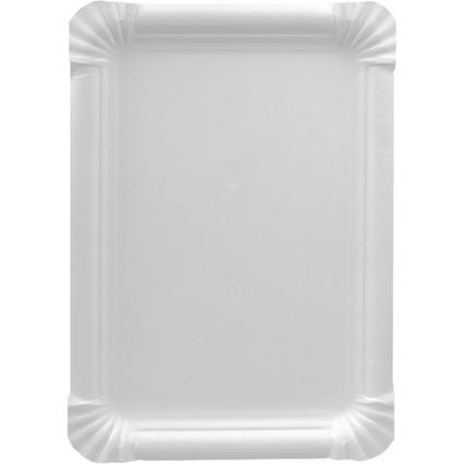"""PAPSTAR Papp-Teller """"pure"""" eckig, Maße: 165 x 200 mm, weiß"""