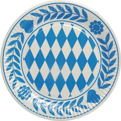 """PAPSTAR Pappteller """"Bayrisch Blau"""", Durchmesser: 230 mm"""