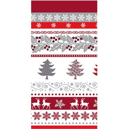 """PAPSTAR Weihnachts-Tischdecke """"Silver Glance"""""""