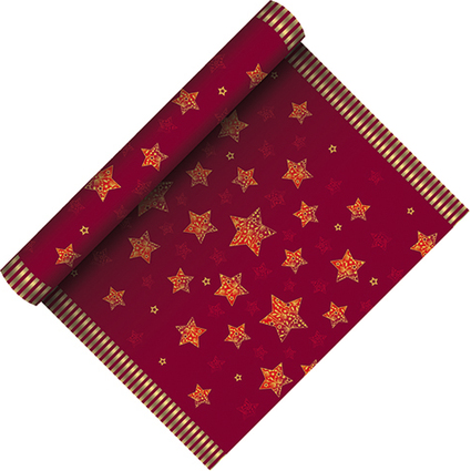 """PAPSTAR Weihnachts-Tischläufer """"Sparkling Stars"""", rot"""
