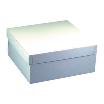PAPSTAR Torten-Karton mit Deckel, Maße: 300 x 300 x 100 mm
