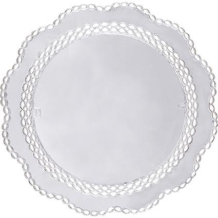 PAPSTAR Tortenspitze, rund, Durchmesser: 360 mm, silber