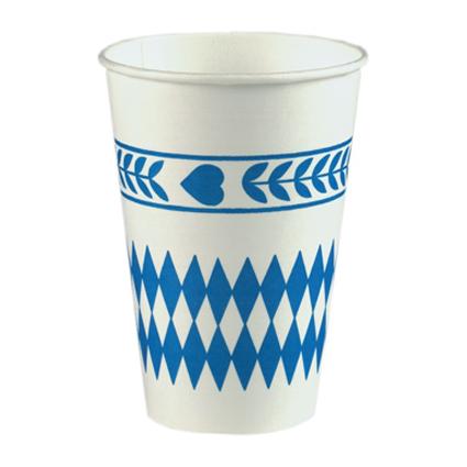 "PAPSTAR Papp-Trinkbecher ""Bayrisch Blau"", 0,2 l"