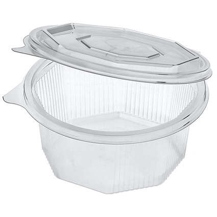 PAPSTAR Verpackungsbecher eckig, mit Klappdeckel, 750 ml