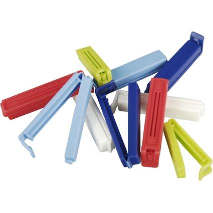 PAPSTAR Verschluss-Clips, PP, farbig sortiert