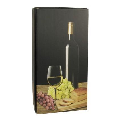 """PAPSTAR Wein-Präsentkarton """"Weißwein"""", für 2 Flaschen"""