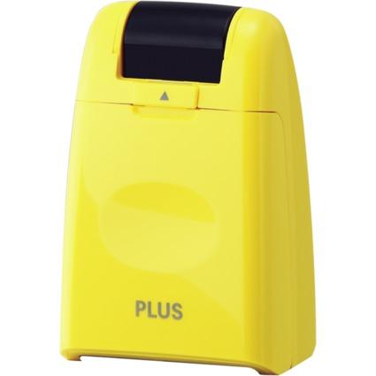 PLUS JAPAN Datenschutz-Rollstempel Standard, gelb
